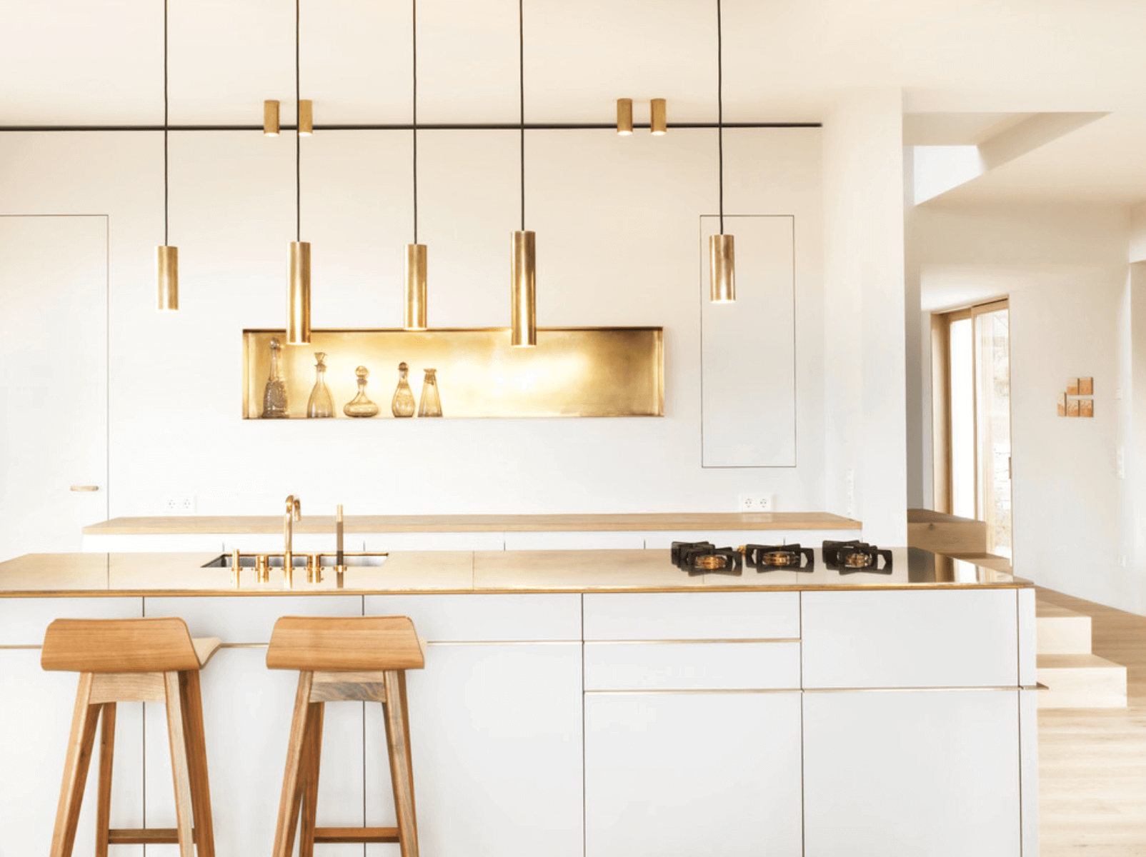 Gold-Accented Kitchen