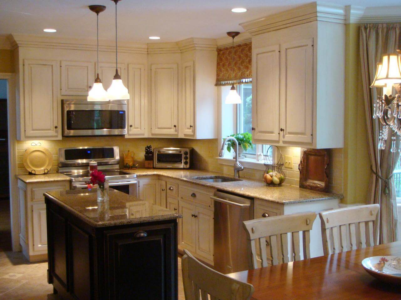 French Country Cabinets in Kitchen