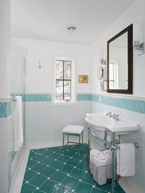 glass tile in shower