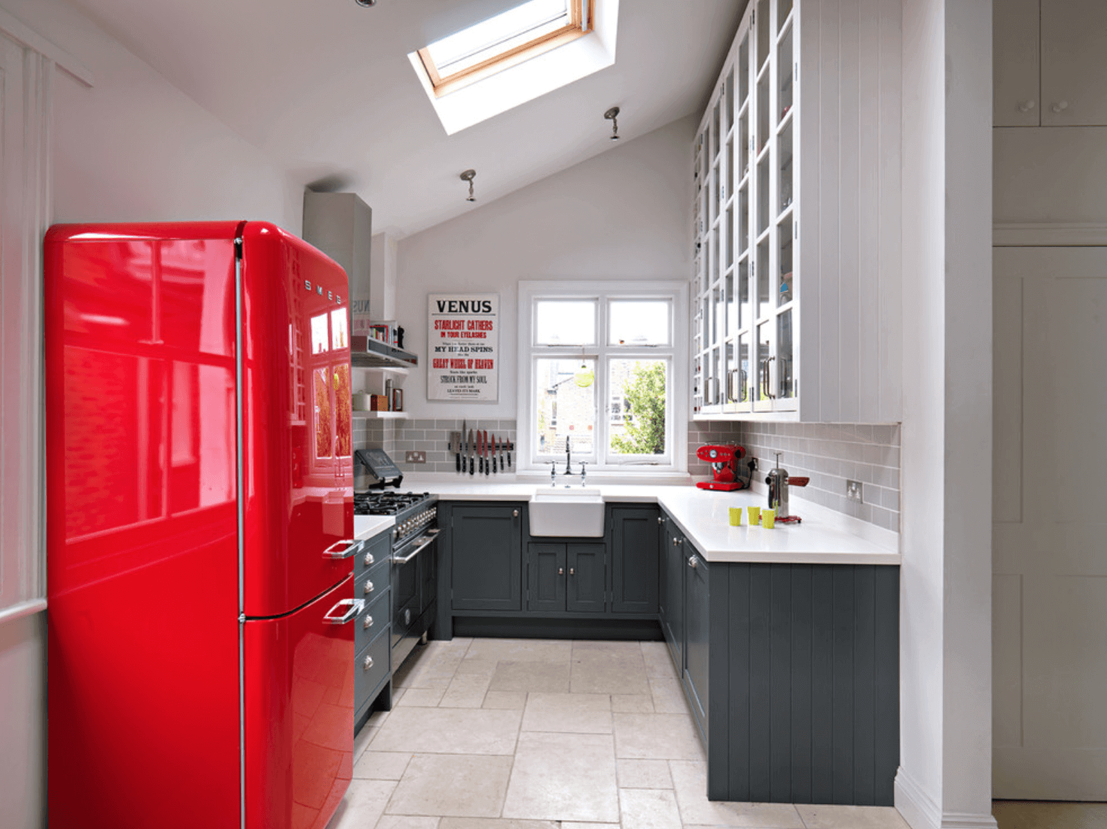 Red-Accented Kitchen