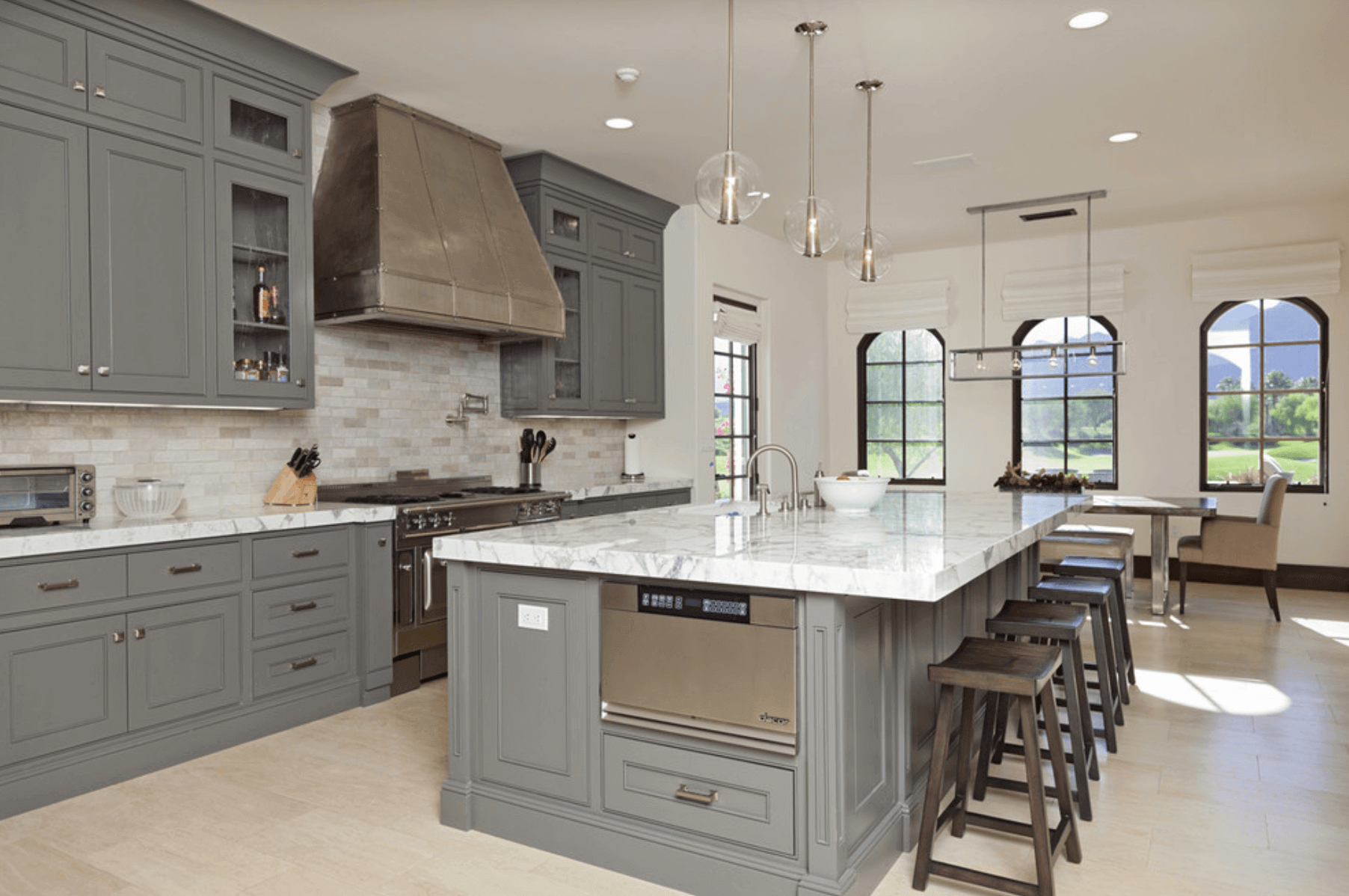 Rich Gray Cabinets