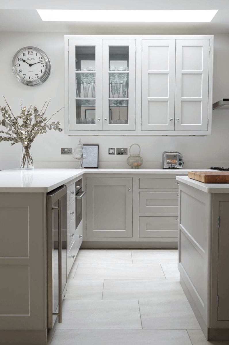 Dual-Toned Gray Cabinets