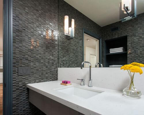 bathroom glass backsplash ideas