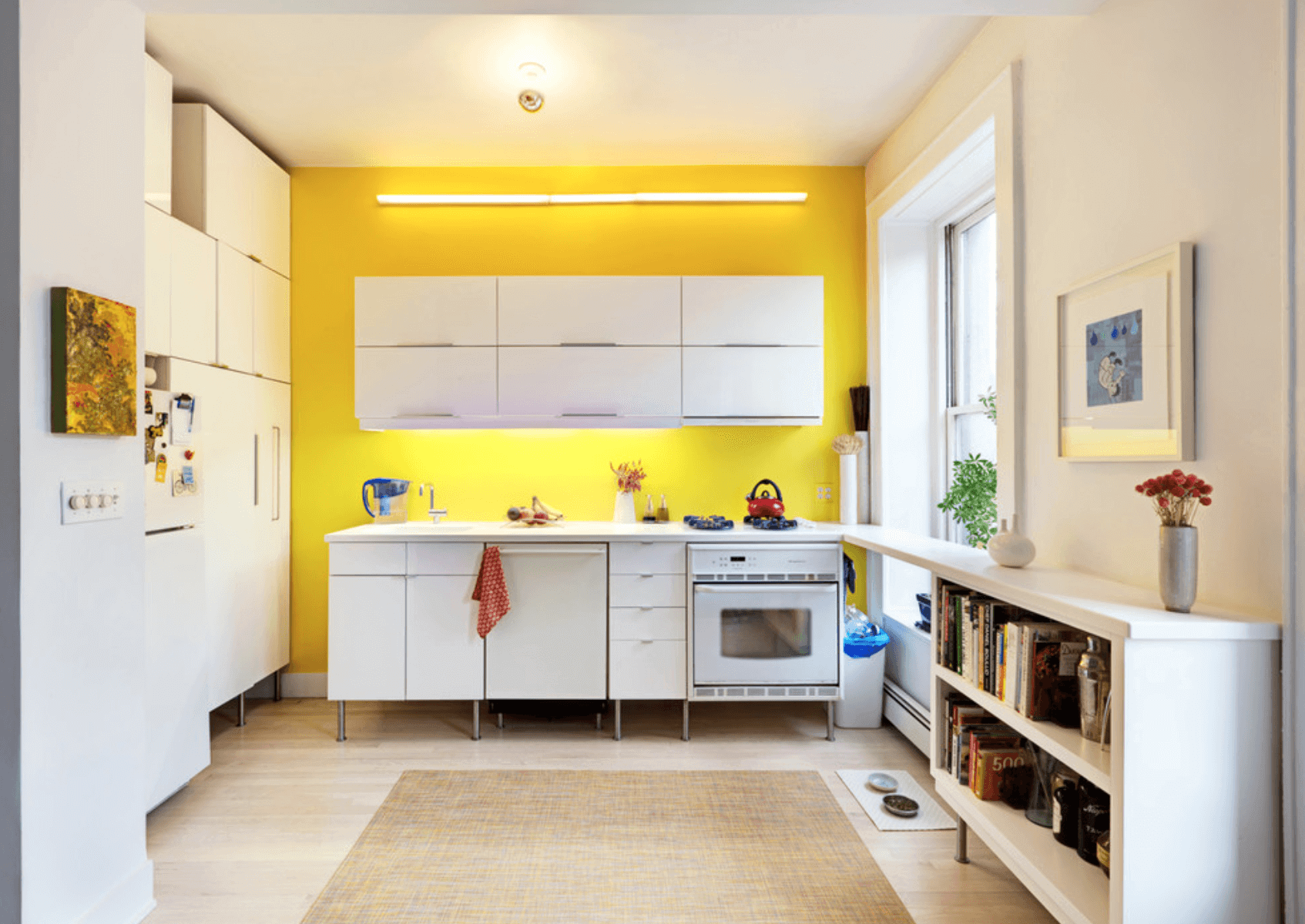 Yellow Accent Wall Surface