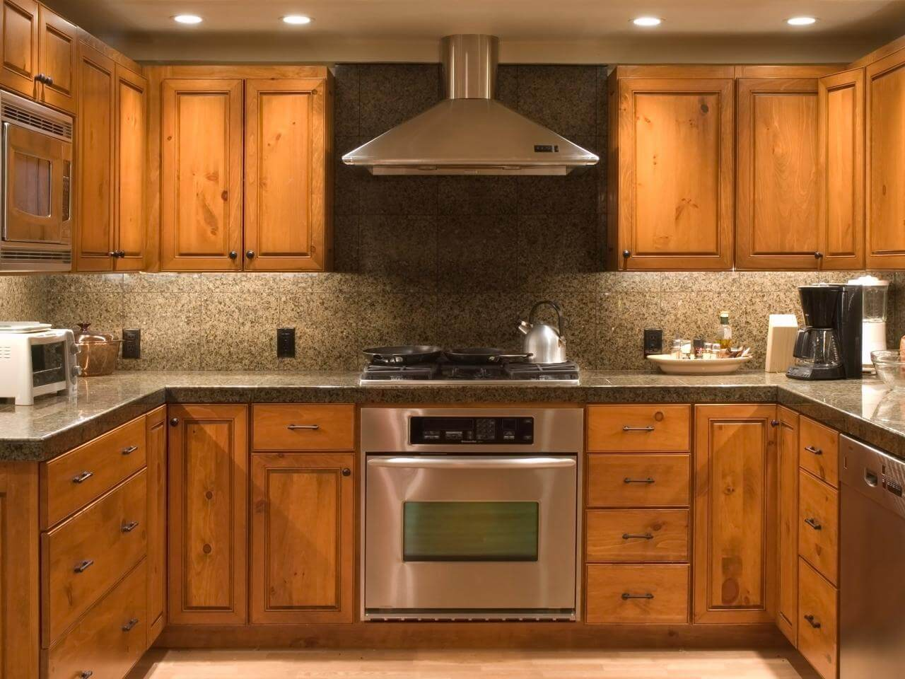 Brown Kitchen with Unfinished Cabinets Photo