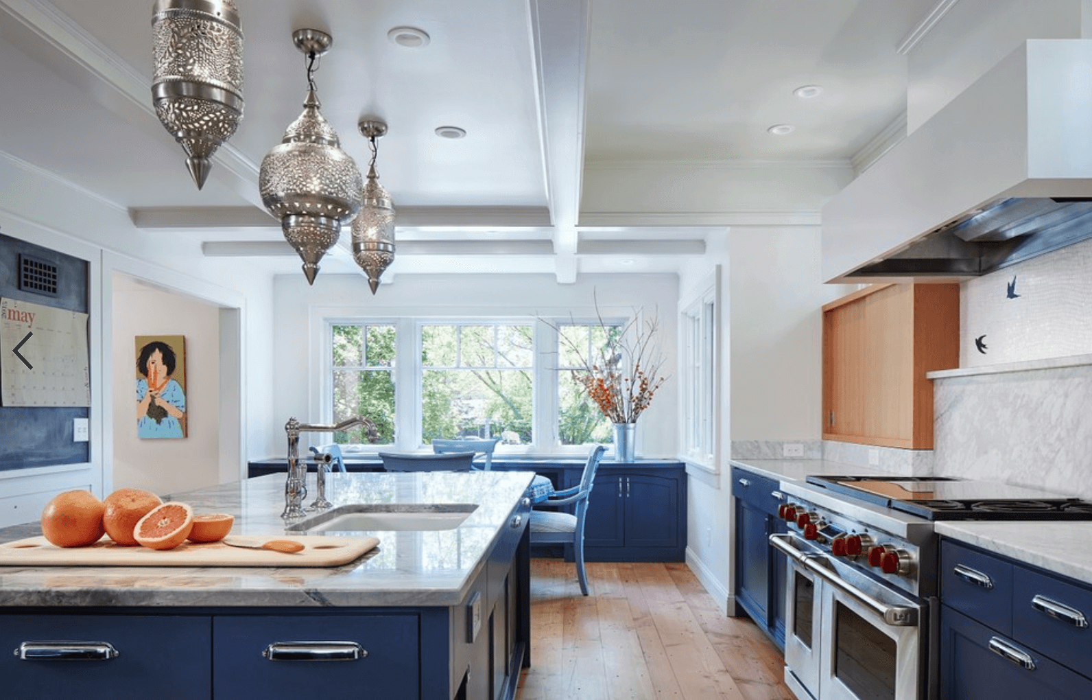 Rich Navy Cabinets