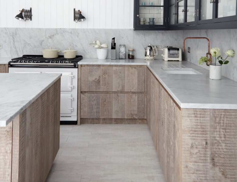 Rustic Modern Kitchen Area Cabinets