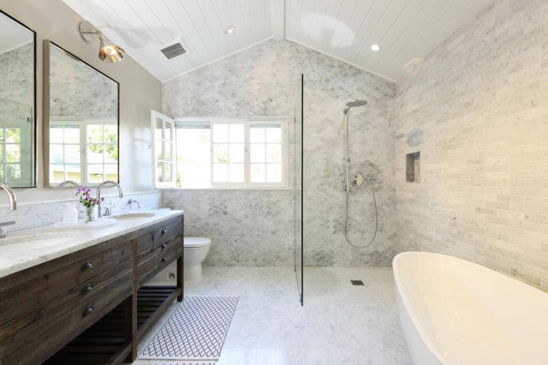 hanging bathroom mirror ideas