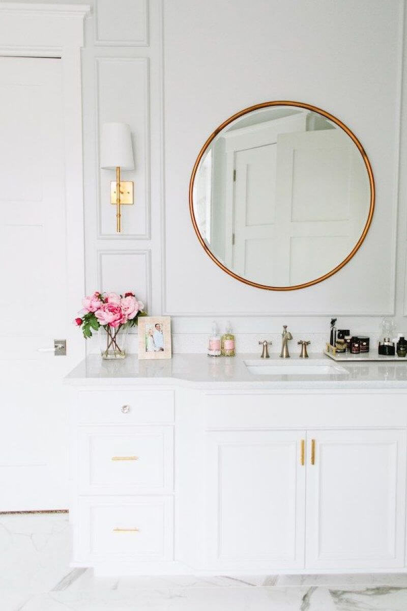 half bathroom mirror ideas