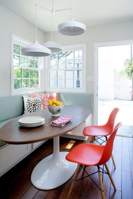 corner bench breakfast nook