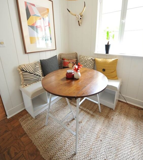 corner breakfast nook design ideas