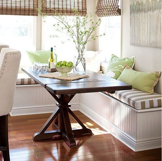 corner breakfast nook bench ideas