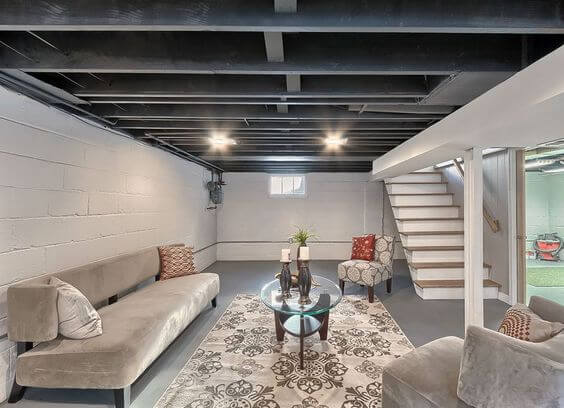 unfinished basement ideas. Contemporary Basement Unfinished Basement Ideas For Man Cave In A
