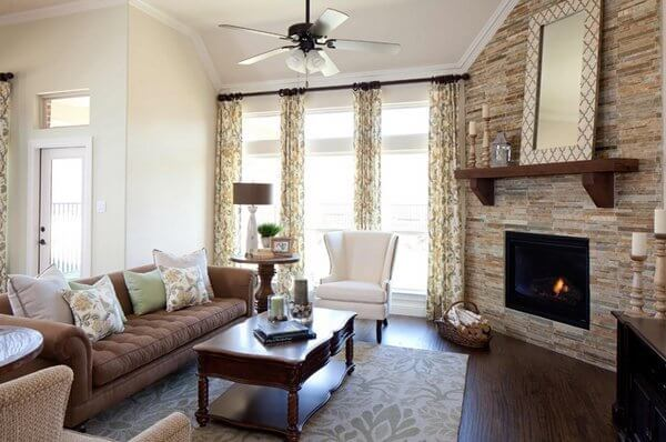 19 Cozy Corner Fireplace Design Ideas In The Living Room