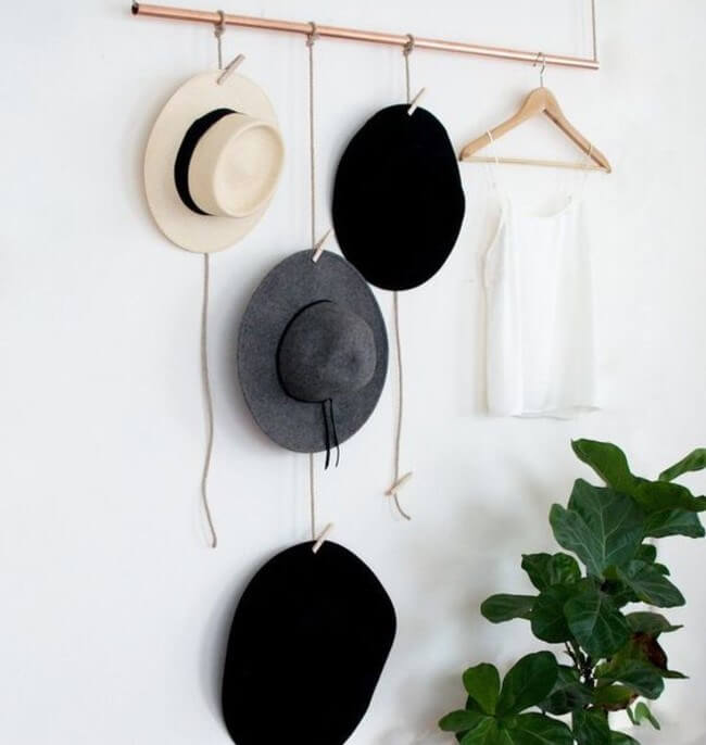 hanging hat rack ideas